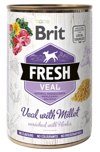 Brit Fresh Dog Veal with Millet puszka 400g