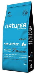 Naturea Cat & Kitten Łosoś 7kg